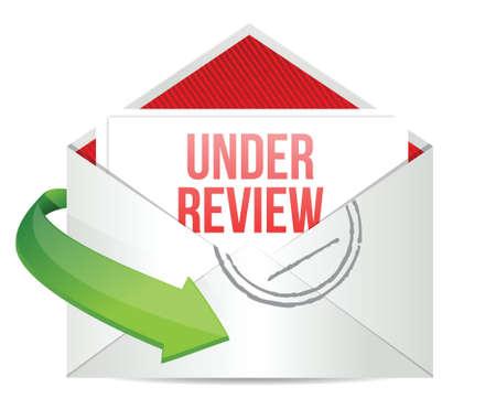 e  mail: under review e mail illustration design over white