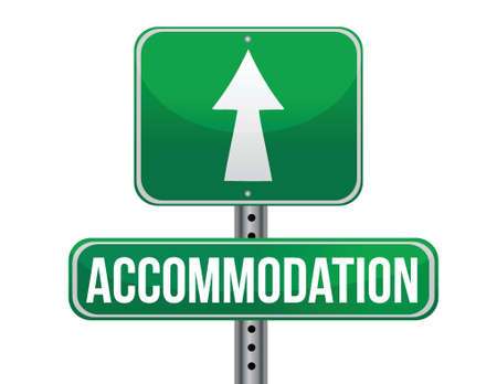 accommodation: accommodation sign illustration design over a white background