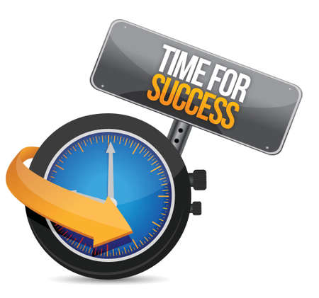 Time for Success illustration design over a white background Vectores