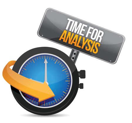 time for analysis illustration design over a white background Illusztráció