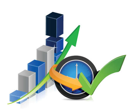 Business finance timing concept illustration design over white Stock Vector - 18487085