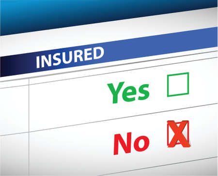insurance checklist selection over a white background
