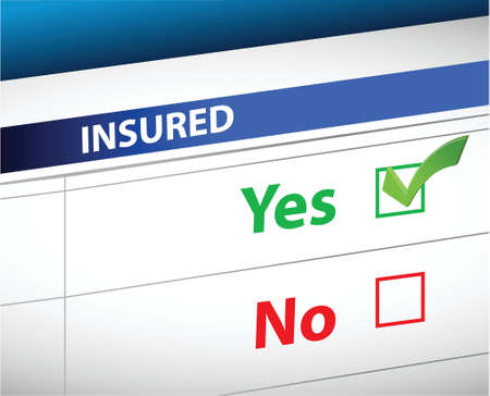 yes or no: insurance checklist selection over a white background
