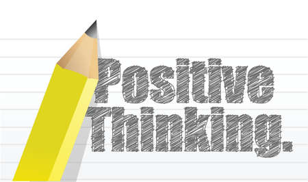 positive thinking message written on a notepad paper illustration Stock Vector - 18487070