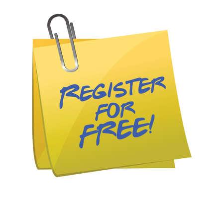 ポスト ・ イット イラスト デザイン コンセプトのサインアップは無料登録します。