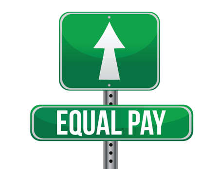 previews: equal pay road sign illustration design over white Illustration