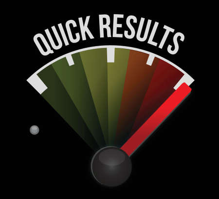 quick: quick results speedometer illustration design over a white background