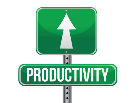 productivity road sign illustration design over a white background