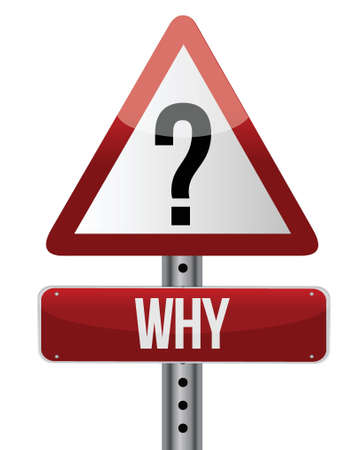 suspicion: question mark warning sign illustration design over white