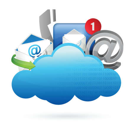 Contact us Cloud computing concept illustration design over white