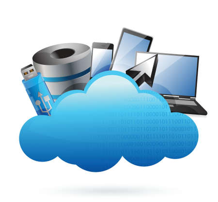 wheather forecast: technology electronics Cloud computing concept illustration design over white