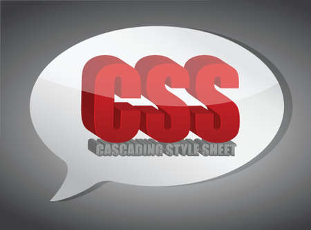 css speech bubble illustration design over white Stock Vector - 18561370
