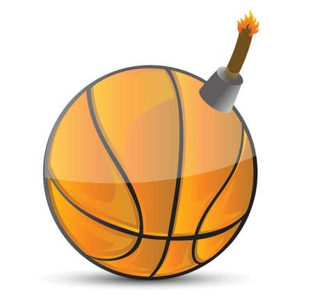 basketball Bomb illustration design over white design Stock Vector - 18561696