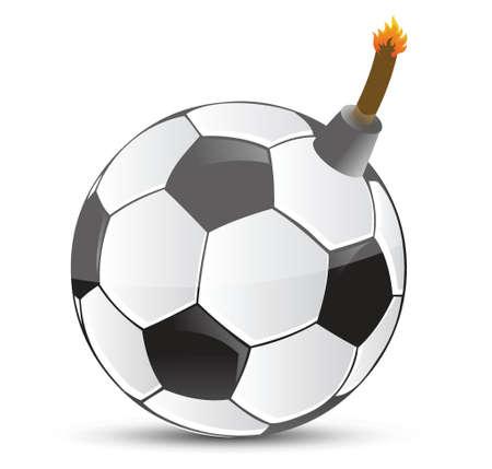 Football bombe conception d'illustration sur la conception blanc Banque d'images - 18561694