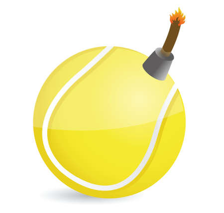 tennis Bomb illustration design over white design Vector
