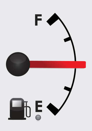detailed gas tank, half full or half empty. Illustration design Vector