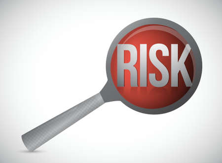 risk concept magnify glass illustration design over a white background Stock Vector - 18561800