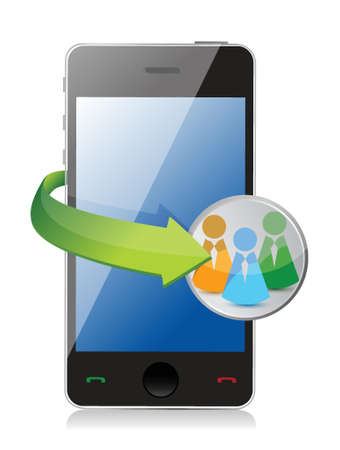 people network phone concept illustration design over white Vector