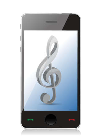 music phone icons illustration design over white Vector