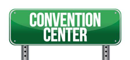 convención carretera centro signo ilustración diseño sobre un fondo blanco