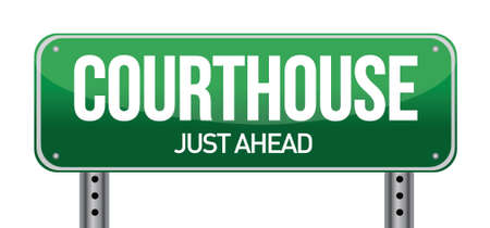 courthouse: courthouse road sign illustration design over a white background Illustration