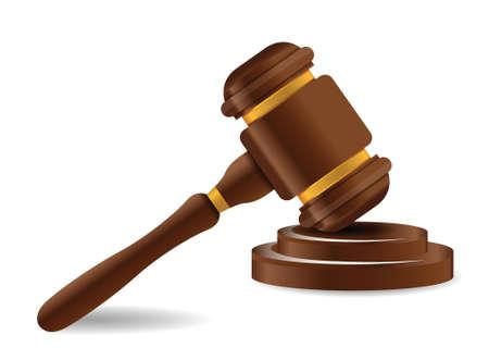 judicial system: Mazo y bloque de sonido aislado sobre fondo blanco