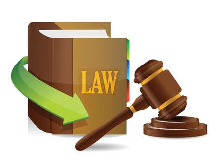 Legislation concept. Balance and book illustration design over white
