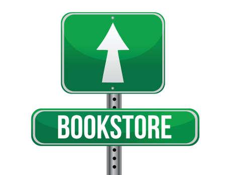 buchhandlung: Buchhandlung Schild Illustration, Design �ber einem wei�en Hintergrund Illustration