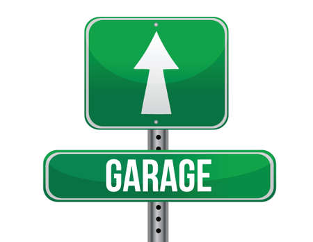 garage road sign illustration design over a white background