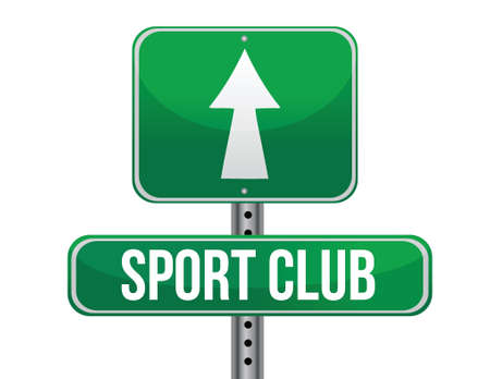 sport club: sport club road sign illustration design over a white background