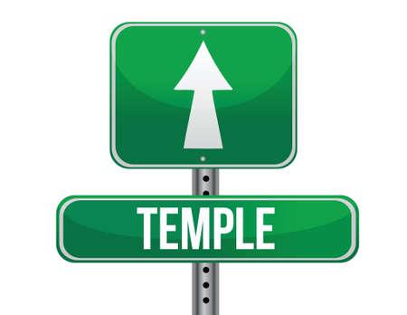followers: Temple Road segno design illustrazione su uno sfondo bianco