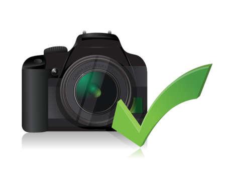 digital slr: camera working fine illustration design over a white background