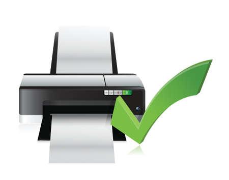 copying: printer working fine illustration design over a white background Illustration