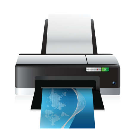 office printer: high quality printer illustration design over a white background
