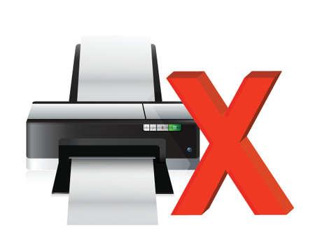 laser printer: printer problems illustration design concept over a white background Illustration