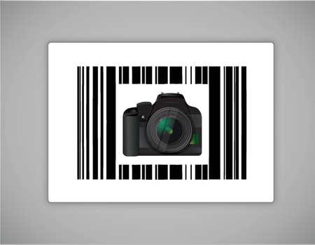 camera bar ups code illustration design over a white background 向量圖像