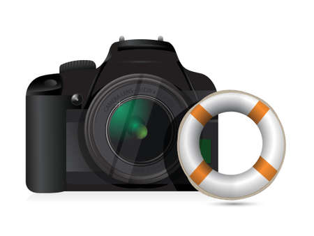 lifebouy: camera sos concept illustration design over a white background