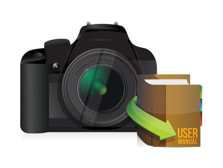 camera and user manual illustration design over a white background Stock Vector - 18728726