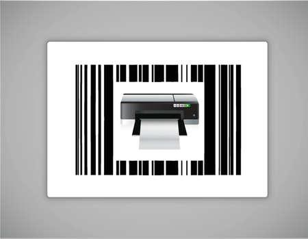 codigos de barra: bar impresora ups código de diseño ilustración sobre un fondo blanco