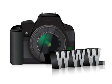 camera www online internet concept illustration design over white Stock Vector - 18728778