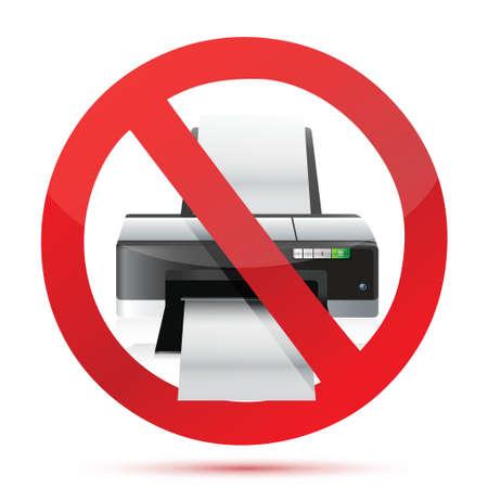 allowed: printer do not use sign illustration design over white
