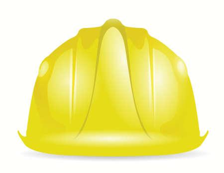 trabajando duro: casco construcci�n dise�o ilustraci�n sobre un fondo blanco Vectores