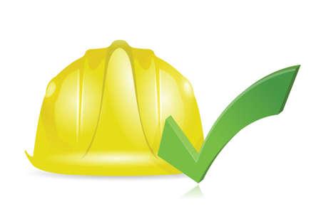 goedkeuren bouw illustratie ontwerp over een witte achtergrond Stock Illustratie