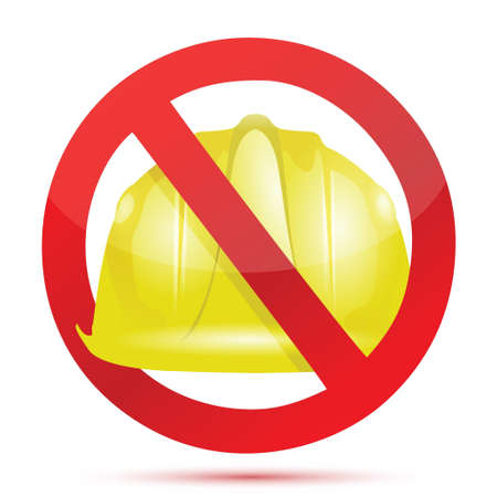 mine site: no constructions allow sign illustration design over white Illustration
