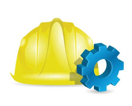 building industrial concept illustration design over white