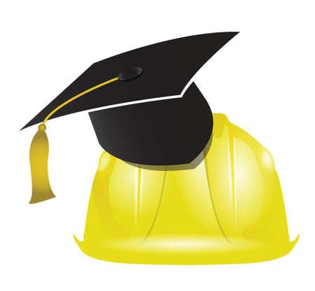construction: architecture education graduation tassel illustration design graphic Illustration