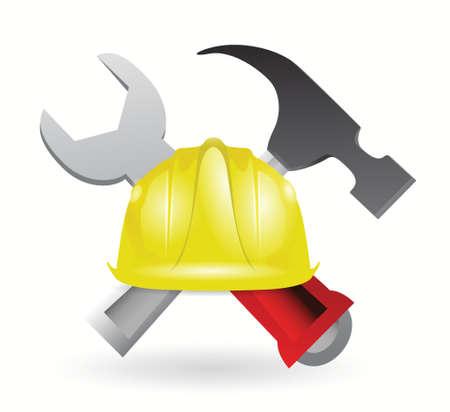 under construction sign illustration design over white Stock Vector - 18806063