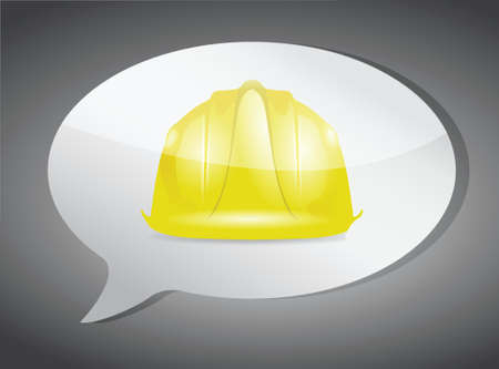 under construction message illustration design over white Vector