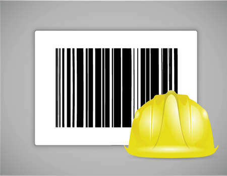 mine site: industrial barcode ups code illustration design graphic