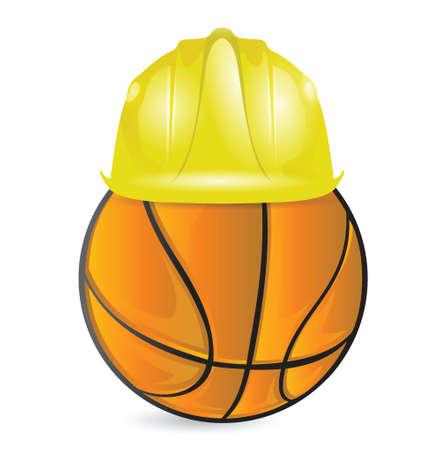 basket training. under construction illustration design over white Stock Vector - 18806078